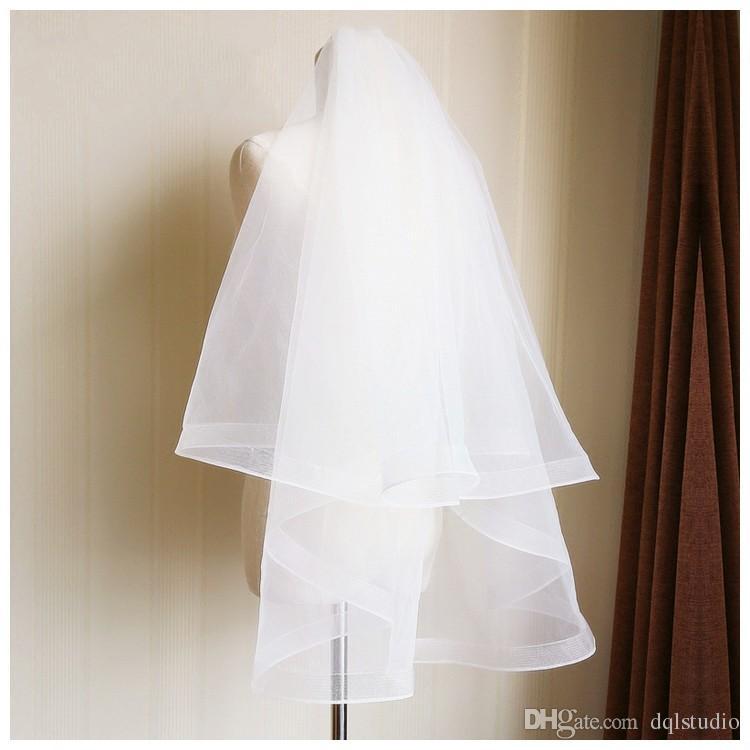 Veli da sposa bianca avorio Velotto da sposa corto con pettine accessori da sposa di alta qualità veli da sposa nuovo arrivo romantico satilo