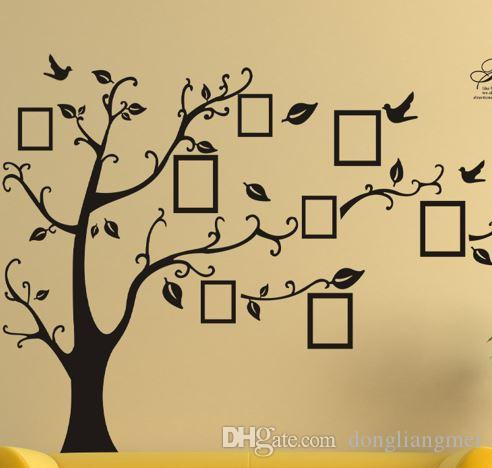 Newarrival Large Room Photo Frame Decoration Family Tree Wall Decal ...