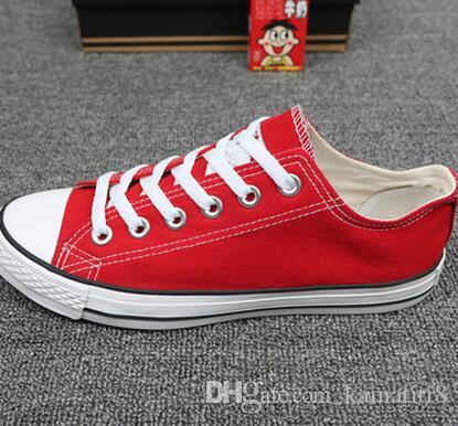 Nouvelles chaussures de toile pour hommes unisexes Low-Top Adult Women's 15 couleurs Lacé Up Casual Chaussures Sneaker chaussures retai Taille35-45
