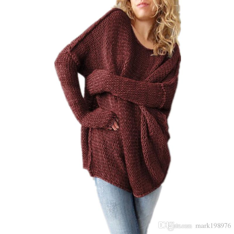 7d5f306e302 2019 2017 Women Sweaters Fashion Knitted Wear Loose Pullovers High Quality  Ladies Sweater Spring Autumn Clothes For Female Tops SW005 From Mark198976