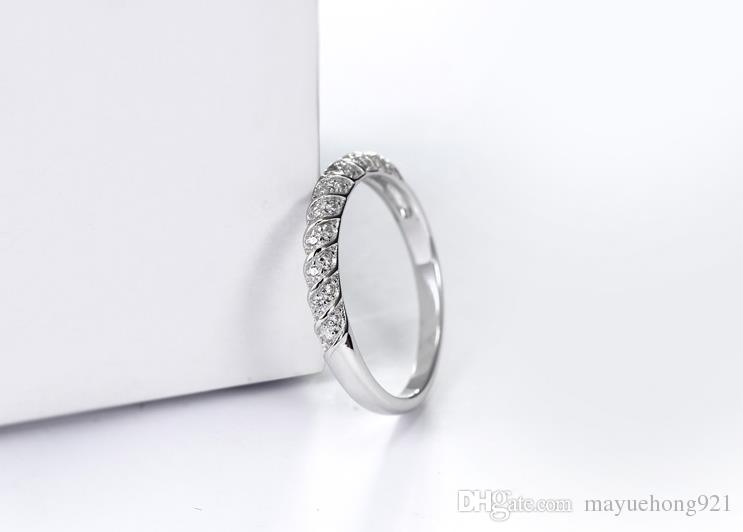 hot Limited specials sterling silver ring S925 rings simple zircon wedding rings for women Dinner accessorie wholesale retail