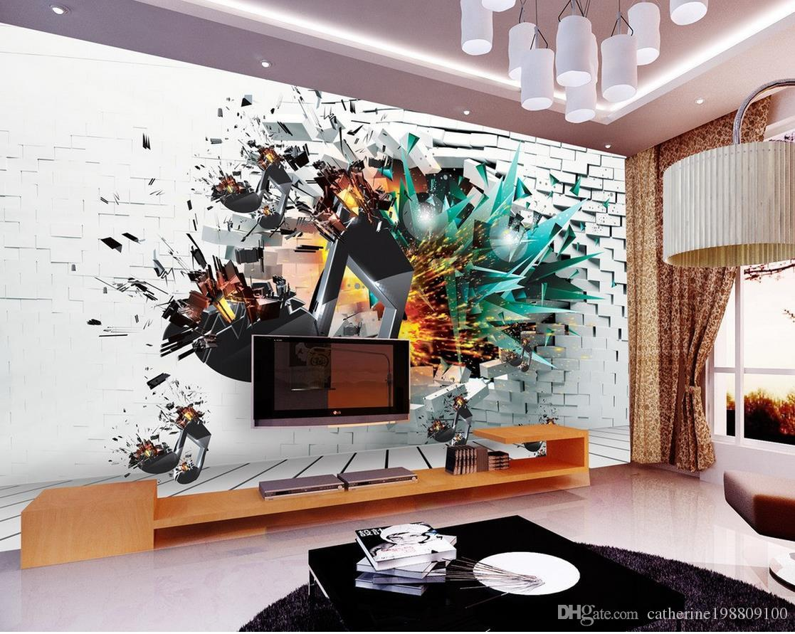 Custom Any Size 3d Music Explosion Symbol Background Wall Decoration Painting Sexy Wallpaper Wallpapers From Catherine198809100 1659