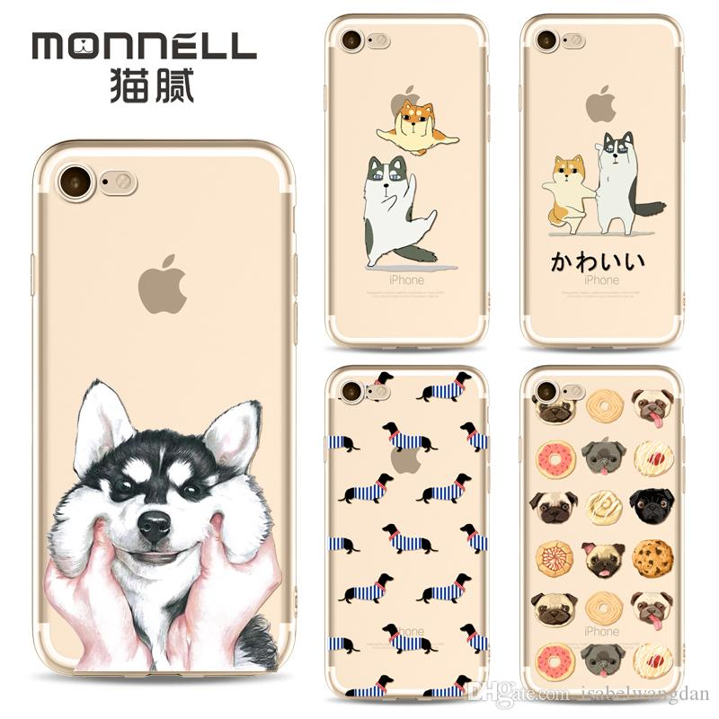 best loved aefc1 d8868 2017 New Dog Case For iphone X 8 7 6 6s plus 5 5s 5c SE TPU Christmas For  samung note 8 s8 plus anti-drop cell phone cases protector