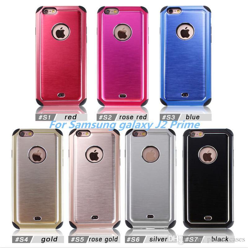 Etui Pour Telephone Cas Dhybride Darmure La Galaxie J2 Prime Grand G532F De Samsung Liphone 7 Plus 6 PC TPU Metal Couverture Arriere