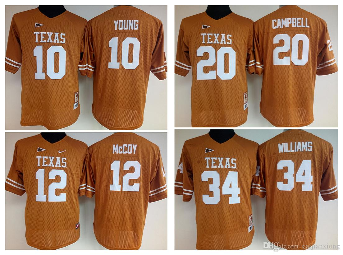 best service 4b0cd 7727d ncaa jerseys texas longhorns 10 vince young burnt orange ...