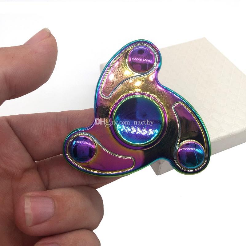 2017 Rainbow Color Hand Spinner Ceramic Bearing Fingertip Gyro