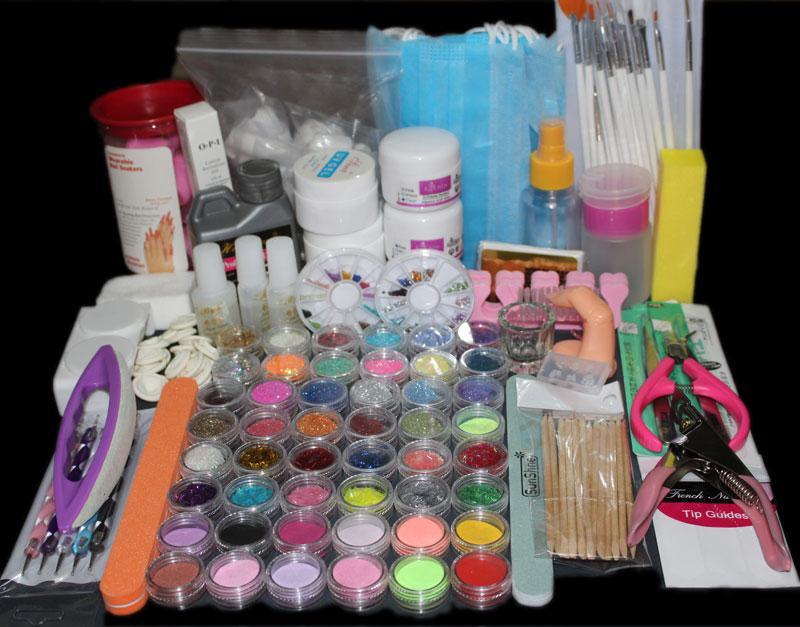 Wholesale Hot Sale Acrylic Powder Nail Art Kit Uv Gel Manicure Diy ...