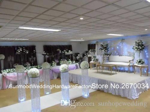 En popüler düğün merkezinde veya olay kristal geçit ayağı çiçek standı toptan