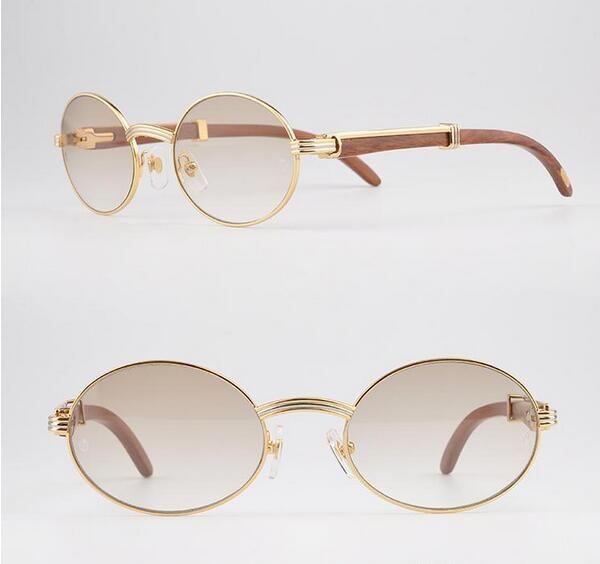Luxury 18k Goldsunglasses Metal Frames Glasses Men Real Wooden ...