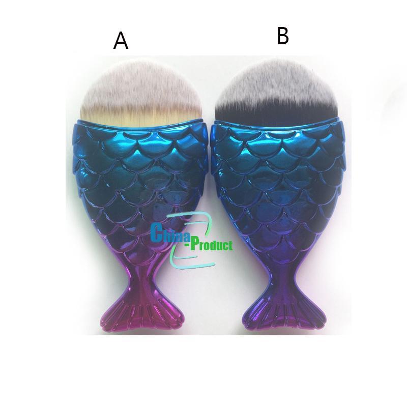 فرشاة ماكياج ميرميد بودرة كونتور فيش سكاليس Mermaidsalon Foundation Brush 5 ألوان