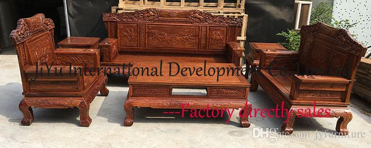 2017 New Fashion Home Sofa 123 Living Room Sofa Sets Wood Furniture Fine  Horses Carving Seat+Table+Couch 100% African Rosewood From Jyfurniture, ...