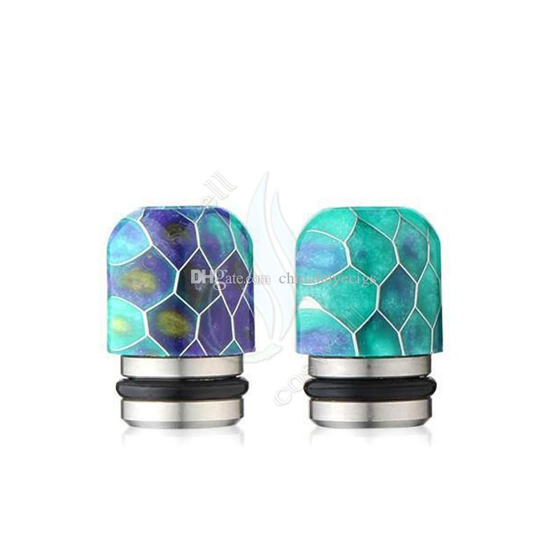 New Epoxy Resin Grid Drip Tips Wave Wide Bore Mouthpiece for Kennedy TFV8 510 Vaporizer vapor mods RDA Tank atomizer tip e cigarette dripper