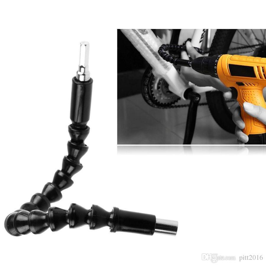 Black 290mm Flexible Shaft Bits Extention Screwdriver Bit Holder Connect Link For Electronics Drill fast ship #05205