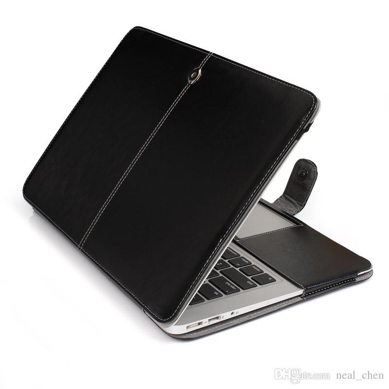 "Plastic Shell Hard Cover Case PU Button For Apple Macbook Air Pro Retina 11.6"" 13.3"" 15.4"" A1370 A1465 A1369 A1466 A1278 1286 A1398 A1425"