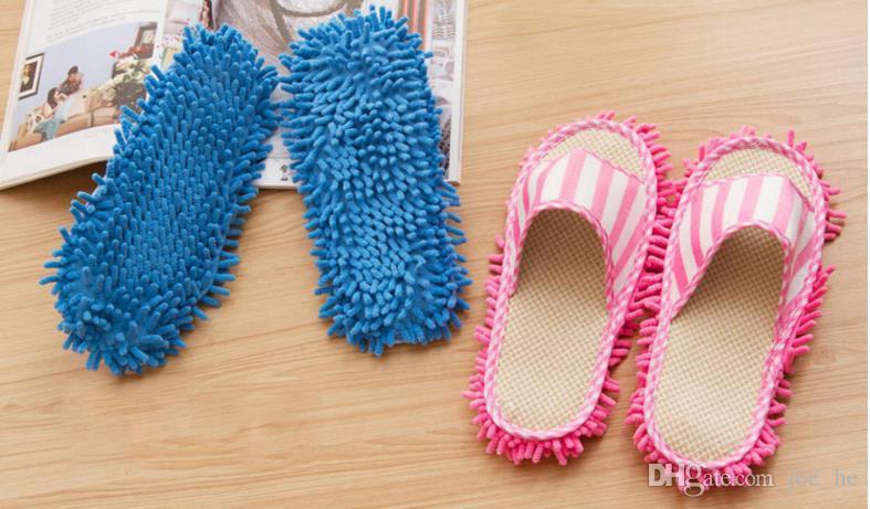 البوليستر ستوكات داخلي الصلبة الغبار نظافة تنظيف ممسحة النعال المنزل أرضية الحمام الأحذية غطاء كسول أداة اللوازم المنزلية