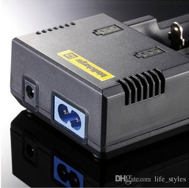 Nitecore I2 Universal Intellicharger E 담배 충전기 범용 전지 I2 충전기 적합 18350 18650 26650 E 담배 개조 배터리