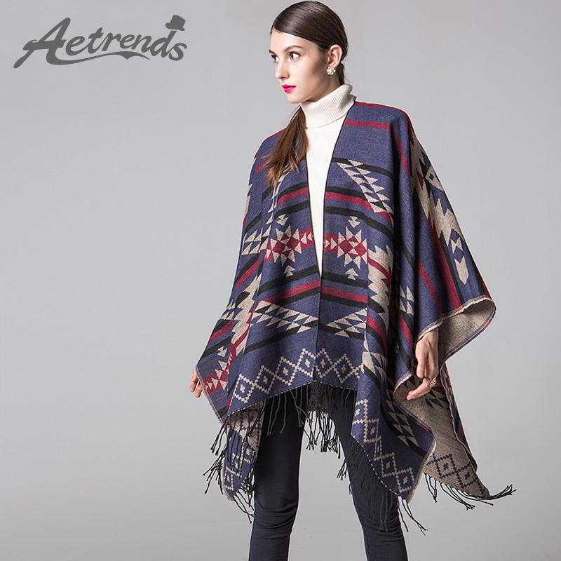 67050f87e Wholesale AETRENDS 2016 New Winter Blanket Poncho Cape Women Warm Scarves  Cashmere Ponchos And Capes Z 3449 Knitted Scarf Scarves Wholesale From  Juaner, ...
