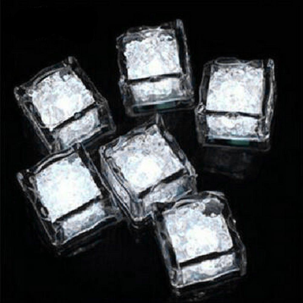 Flash Ice Cube Flash ad attivazione d'acqua Luce a Led Inserita in acqua Drink Flash Automaticamente Party Wedding Bar Natale 170717