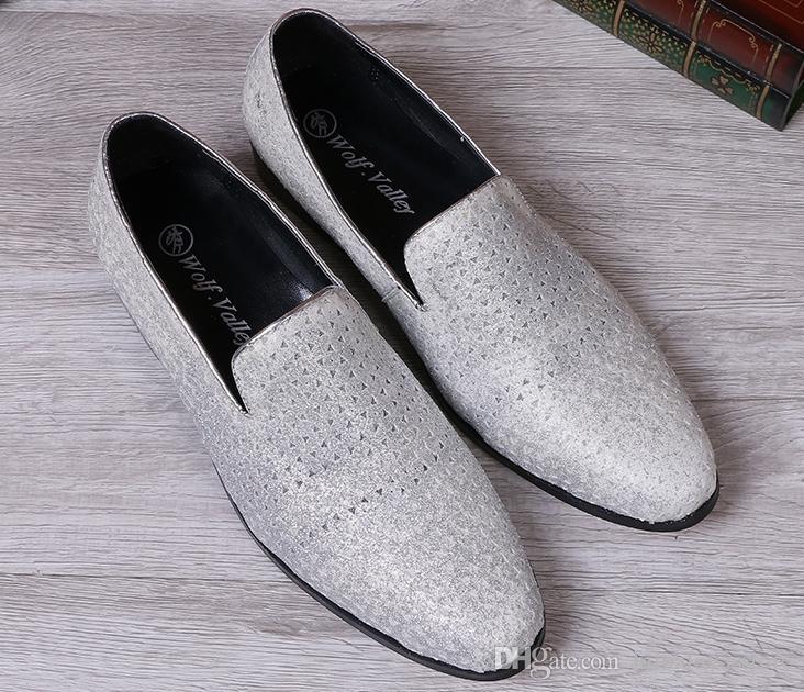 Cuir de vache Hommes Chaussures Flats Pointu Toe Chaussures Hommes d'affaires Robe en cuir grain Shallow Chaussures Nouveau design Flats