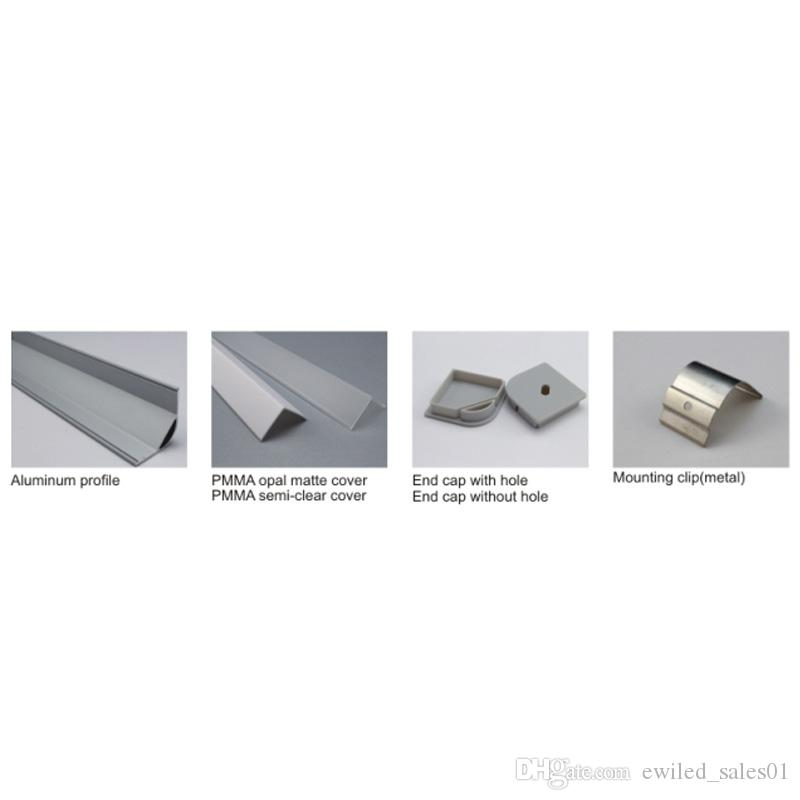 10 X 1M setsAl6063 T6 Right angle aluminum channel light and aluminium corner profile for kitchen or wardrobe lamps