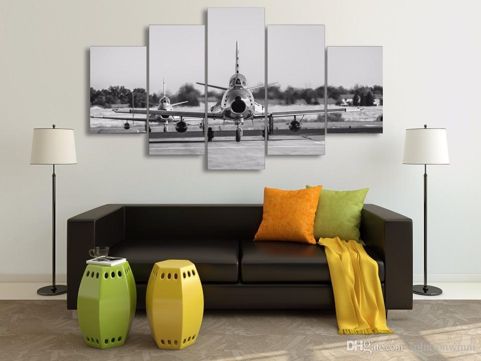 HD HD Pictter d'aéronefs peinture toile de peinture imprimée décor de la pièce d'impression affiche picture peinture murale