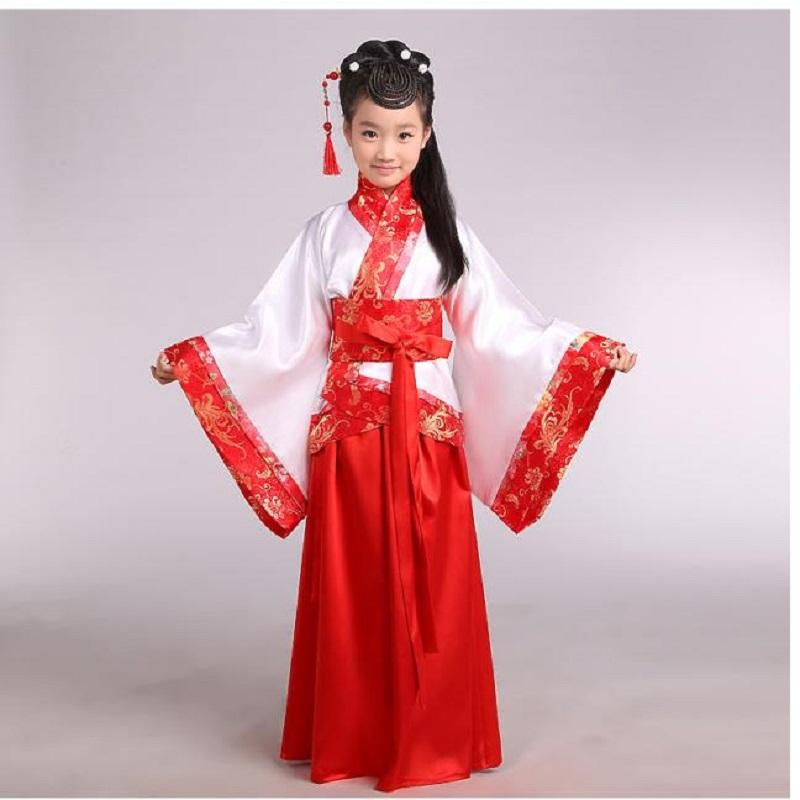 2018 Q0228 China Hanfu Dress Christmas Dance Costumes For Kids Traditional Chinese Tang Ancient Costume Classical Children Kid Girls From Shen8408
