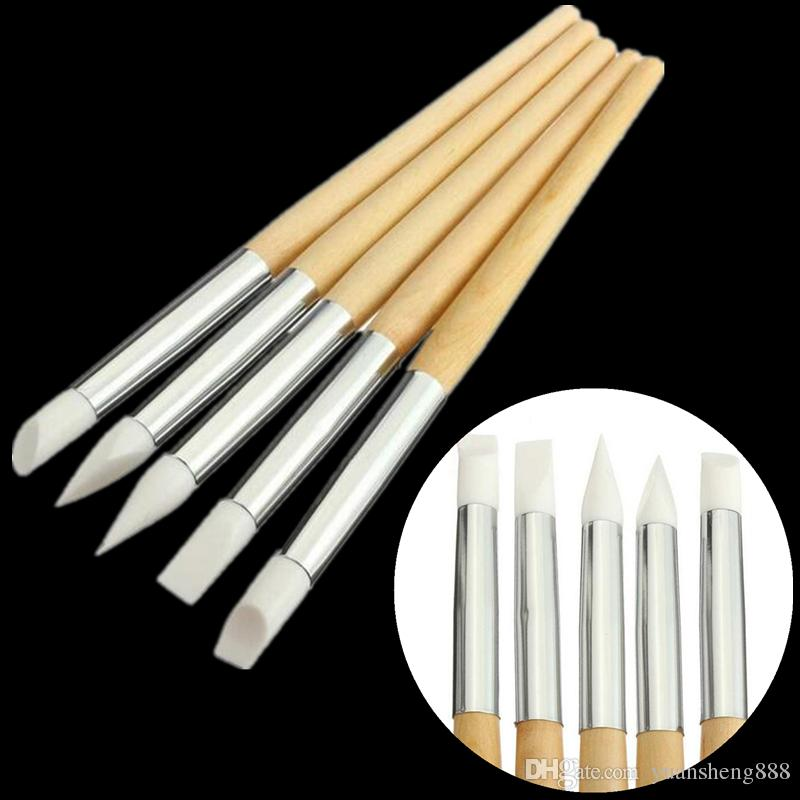Silicone Carving Pen Nail Art Acrylic Design Brushes Painting