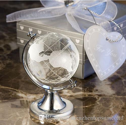 Livraison Gratuite Unique Faveurs De Mariage Avec Boîte De Cristal Mondial De Mariage Souvenir lembrancinha de casamento fiesta cumpleanos