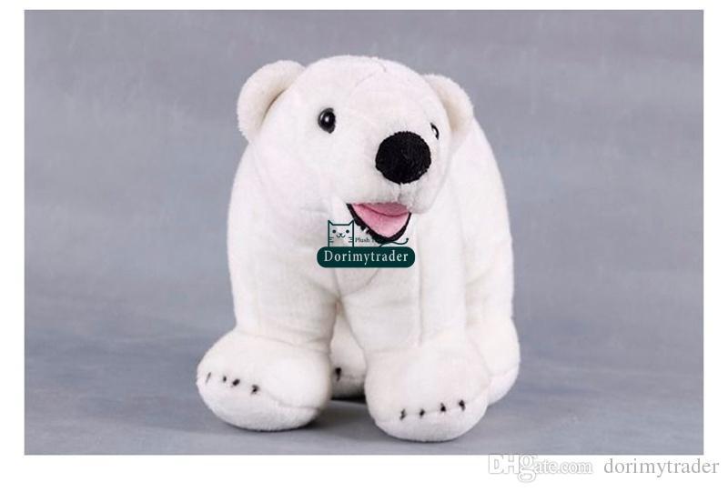 Dorimytrader 45cm Giant Cute Soft Simulated Animal Polar Bear Plush Toy LOVELY Stuffed Cartoon Bear Doll Kids Gift DY60054