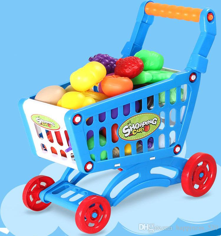 2017 Children\'S Pretend Play Toys Of Supermarket Shopping Cart ...