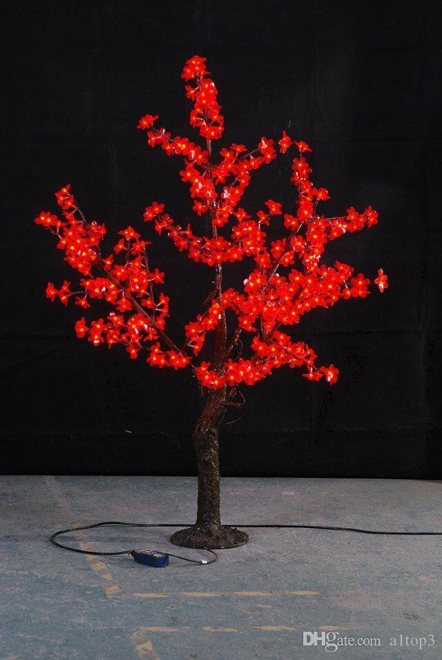 2018 Free Ship 5ft 1.5m Height Red Led Simulation Cherry Blossom Tree  Outdoor /Indoor Wedding Garden Holiday Christmas Light Decor 480 Leds From  A1top3, ...