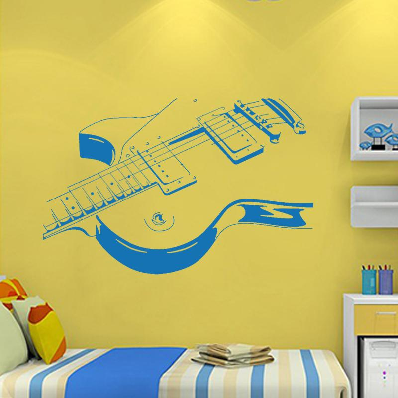 Art Guitar Wall Stickers Diy Home Decorations Music Wall Decals Living Room Diy