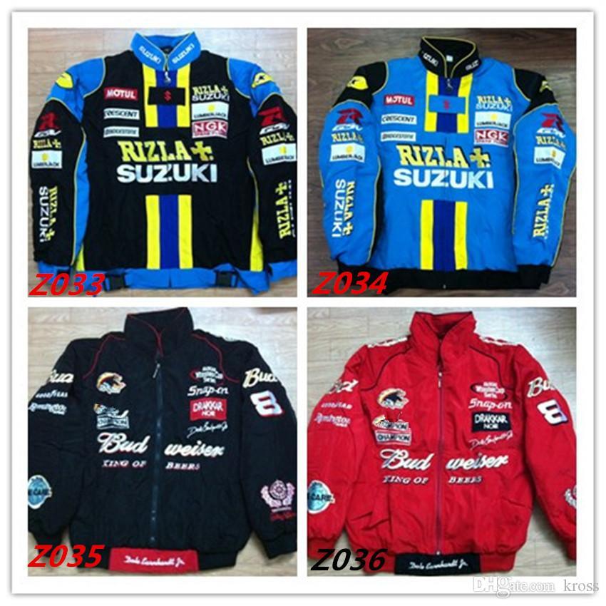 Marque de broderie F1 FIA NASCAR IndyCar V8 Supercar Veste en coton MOTO GP Racing Moto Rider Jacket f1 VESTE MOTO RACING hommes C01