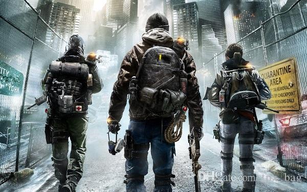 The Division duffel bag Dark zone black yellow tote Tom clancy backpack Game luggage Sport shoulder duffle Outdoor sling pack