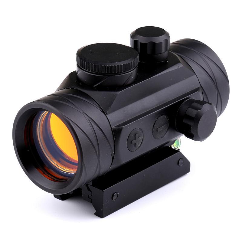 2017 NEW الحريق WOLF 1X40 الصيد التكتيكية التصوير المجسم ريد دوت بندقية نطاق البصر مع فقاعة صكوك مستوى بصري