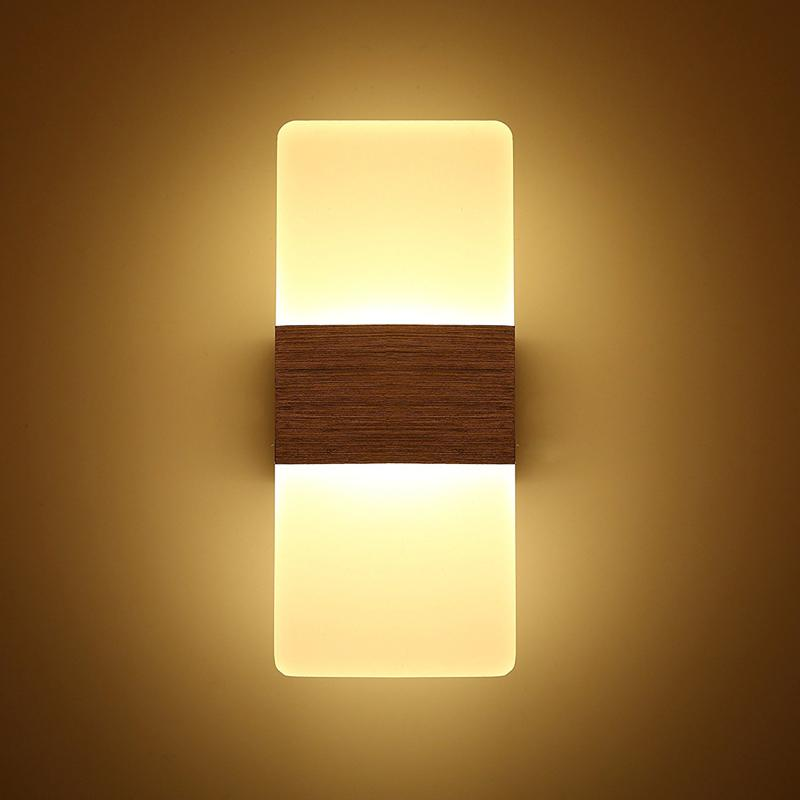 Modern Acrylic 12W LED Wall Sconces Aluminum Light Fixture Up And ...