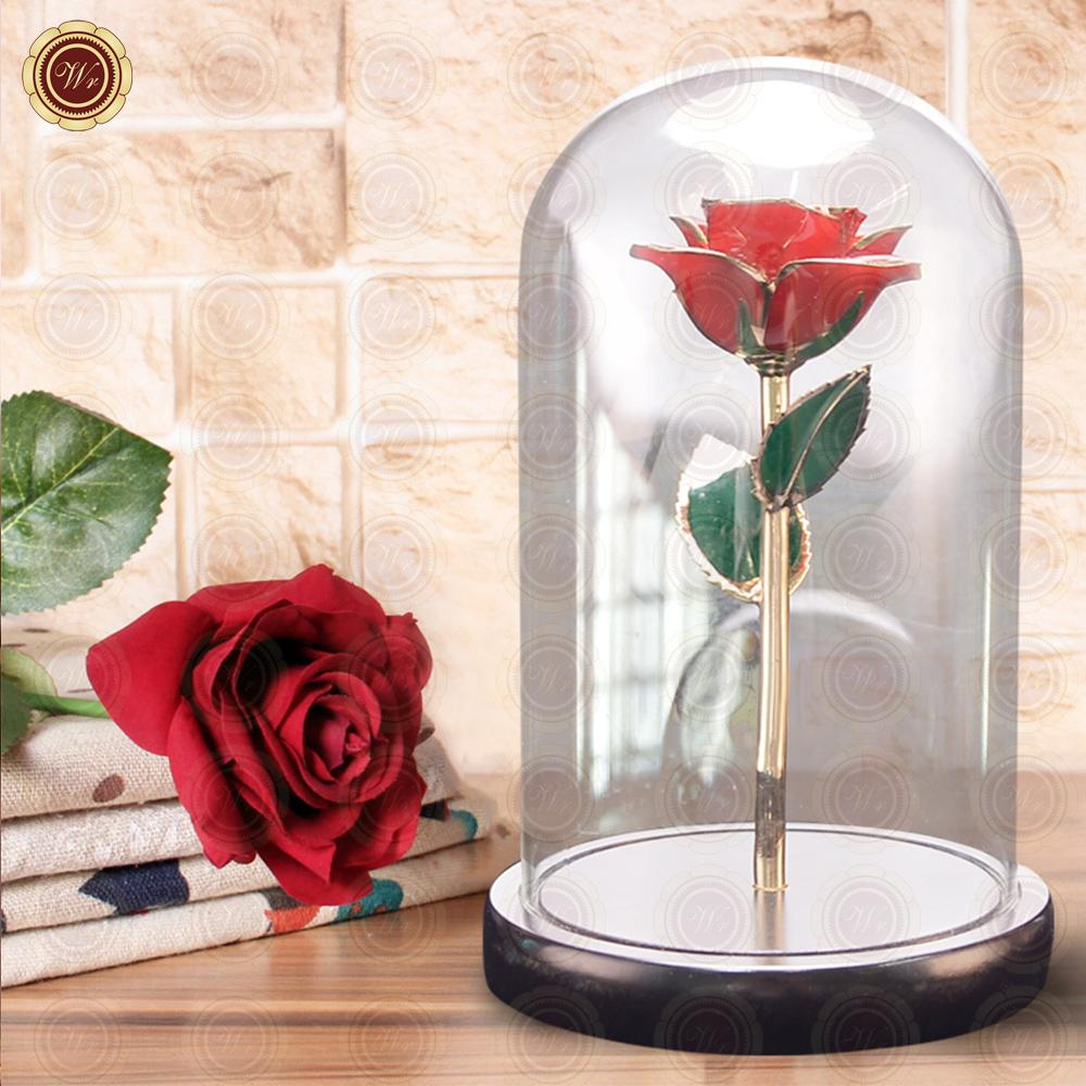 WR Valentine\'s Souvneir Gifts 24k Gold Rose Wholesale Red Natural ...