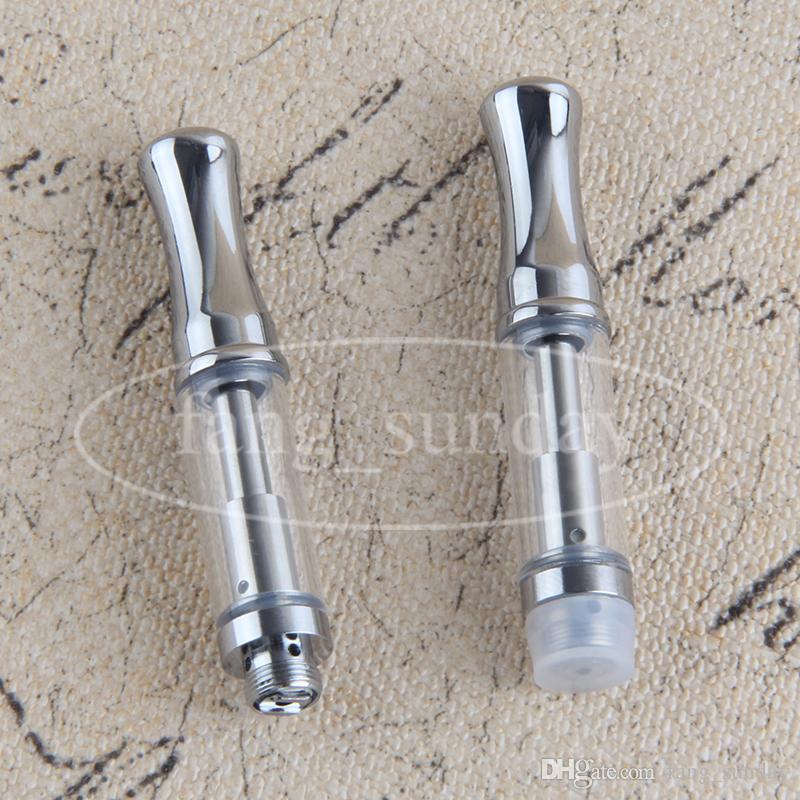 510 Vape Pen Pyrex Glass Oil Ceramic Vaporizzatore Cartuccia .5ml Serbatoio atomizzatore da 1 ml con punta rotonda in metallo