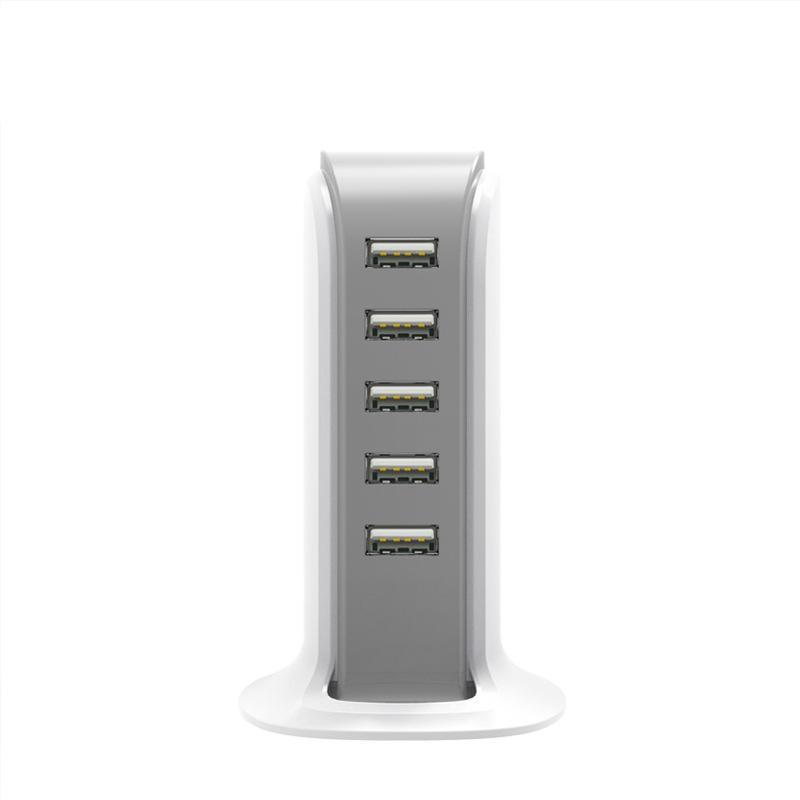 BARCO Real 4.0A 5 Portas USB Vertical Desktop Carregador de parede com 1 m de Cabo Em pacote de Varejo PARA telefone inteligente Tablet pc 10 pçs / lote