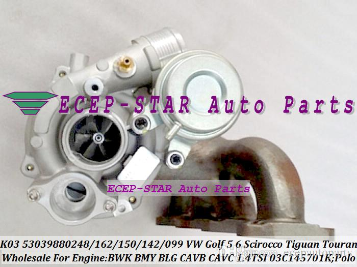 Turbo cartridge CHRA K03 53039700162 53039880248 53039880162 150 0142 For VW Golf 5 6 Polo Scirocco Tiguan Touran 1.4L TSI BWK BMY BLG CAVCB