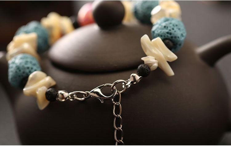 Природные лавы рок бусины подвески браслеты анти-усталость вулканический рок Шарм браслеты для женщин подарки цвета бусины браслеты