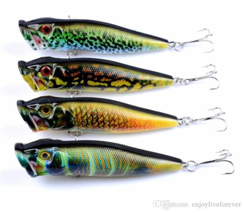Поверхность воды серии 4 цвета Поппер приманки имитация рыболовные приманки 9,5 см 12 г ABS пластиковые жесткие приманки с 6# слот для крови крюк