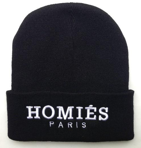 Hot Sale Black Homies Paris Beanies Hats Hip Hop Street Embroidered Beanie  Winter Caps Knitted Caps HF Beanies Mens Winter Hats Knitted Caps Online  with ...