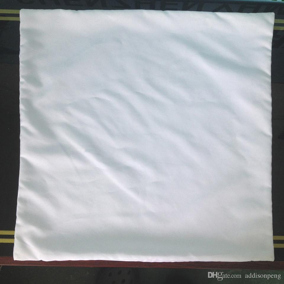 50 adet / grup düz beyaz DIY Boş Süblimasyon yastık kılıfı poli yastık kapak 150gsm kumaş 40 cm için kare beyaz yastık kılıfı DIY baskı / boya