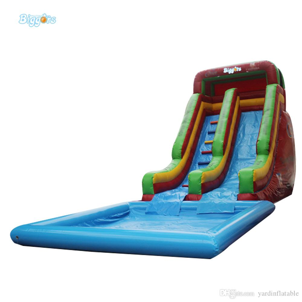 Outdoor Commercial Grade Inflatable Summer Backyard Water Game Inflatable Pool Water Slide For Amusement Park