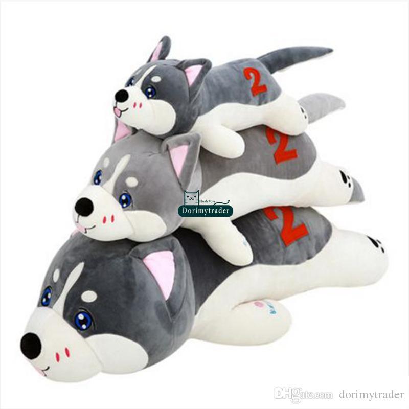 Dorimytrader новый прекрасный большой мягкий животных хаски собака плюшевые игрушки чучела лежа собака кукла подушка подарок для детей 50 см 70 см 90 см 120 см DY61735