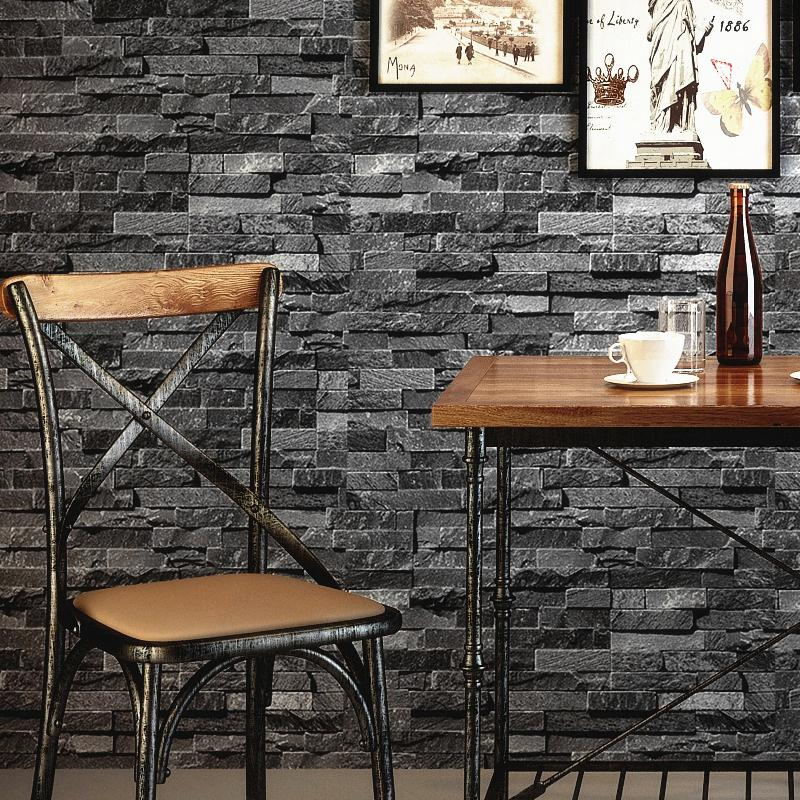 Retro Nostalgic Brick Wall Wallpaper Grey 3d Effect Stone For Walls Roll Living Room Restaurant Decoration Hd Wallpapers