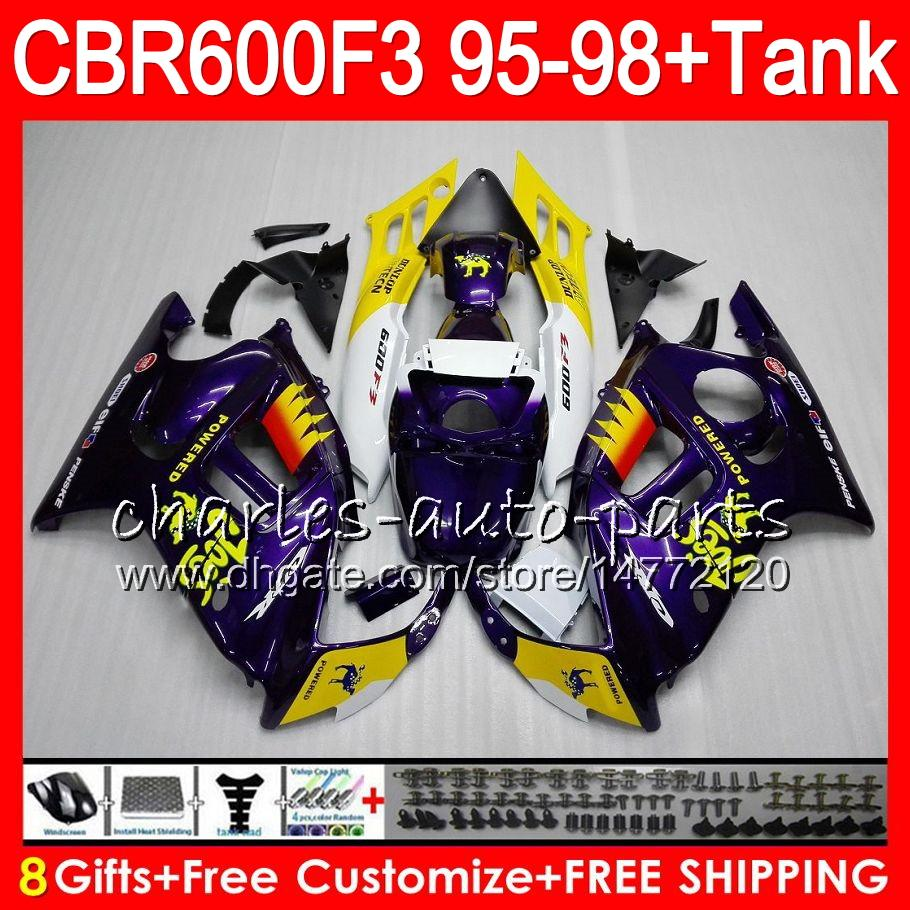 8 Gifts Joes camel For HONDA CBR600F3 95 96 97 98 CBR600RR FS 2HM15 CBR600 F3 600F3 CBR 600 F3 1995 1996 1997 1998 white Fairing