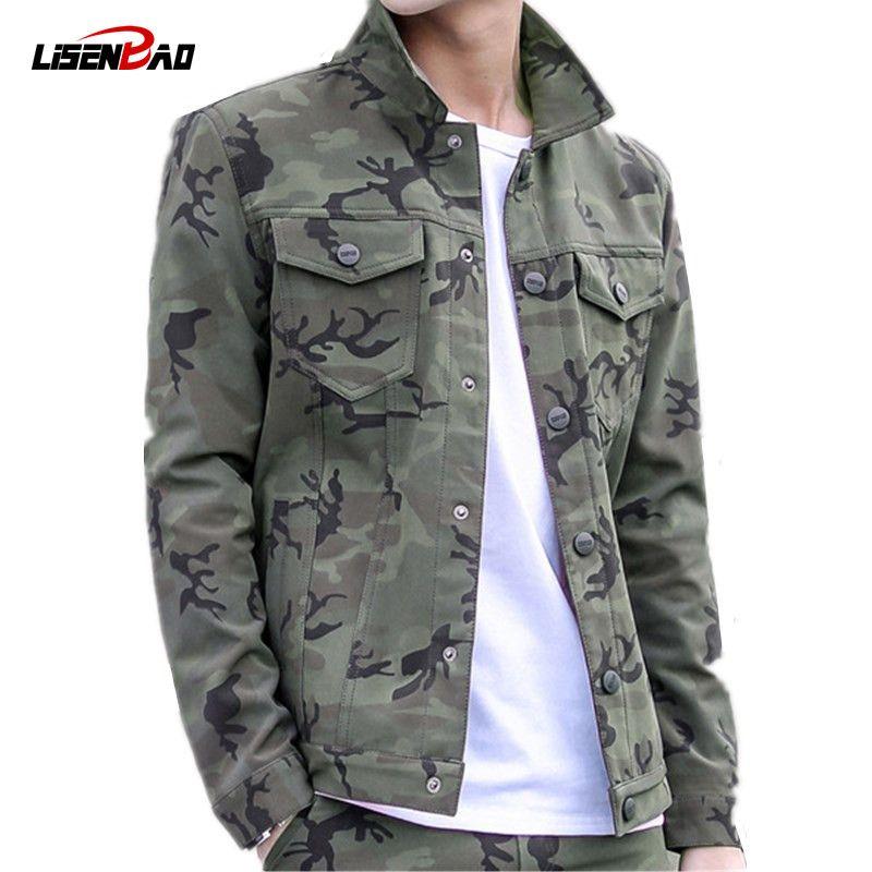 9aaf63572 Military Jacket Men Coat Army Green Jacket Men Camouflage Jacket Casual  Brand Clothing Plus Size 3XL Coats Baseball Leather Jacket Hockey Jacket  From ...