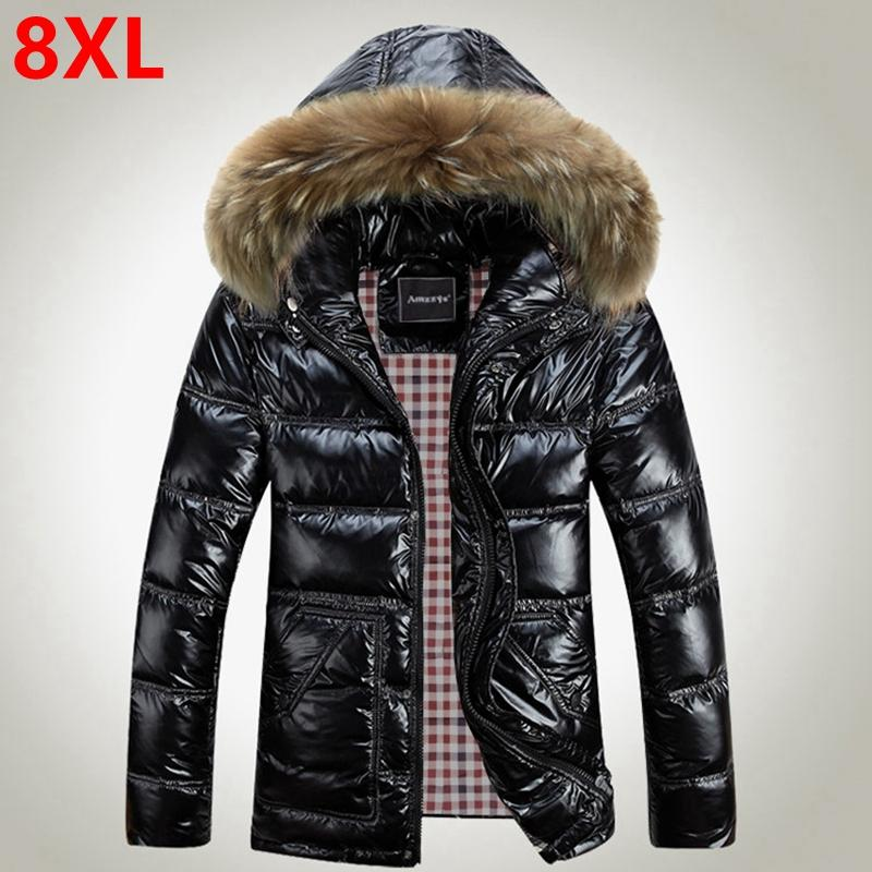 733b81f3bb724 2019 Wholesale New Large Size Winter Jacket XL Fat Male Big Size Bright  Winter Clothes 8XL Fat Male Winter Coat Big Yards Men S Down Jacket From  Hongzhang